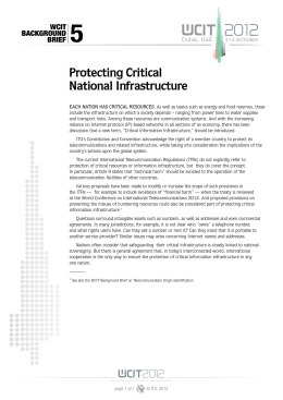 5 Protecting Critical National Infrastructure WCIT