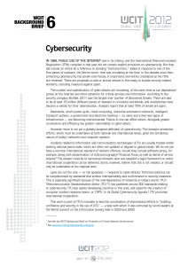 6 Cybersecurity WCIT BACKGROUND