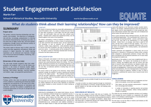 Student Engagement and Satisfaction SUMMARY Martin Farr