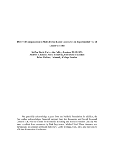 Deferred Compensation in Multi-Period Labor Contracts: An Experimental Test of