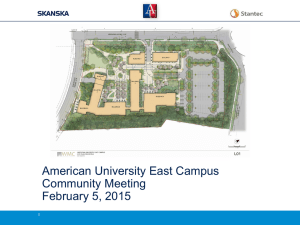 American University East Campus Community Meeting February 5, 2015 1
