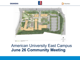 American University East Campus June 26 Community Meeting