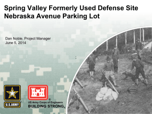 Spring Valley Formerly Used Defense Site Nebraska Avenue Parking Lot  BUILDING STRONG