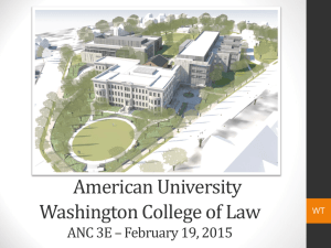 American University Washington College of Law ANC 3E – February 19, 2015