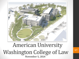 American University Washington College of Law November 5, 2014 WT