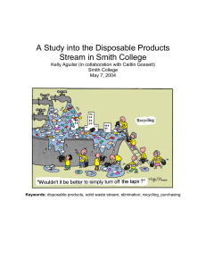 A Study into the Disposable Products Stream in Smith College