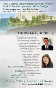 Thursday, apriL 7 New Coastal Urban Infrastructures: Recent