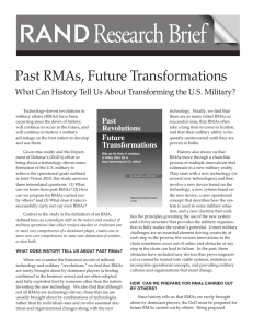 Research Brief Past RMAs, Future Transformations