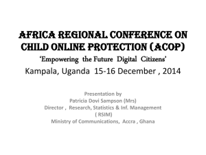 AfricA regionAl conference on  child online Protection (AcoP)