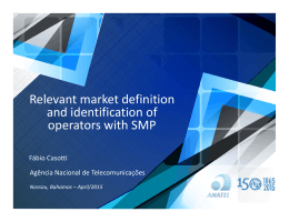 Relevant market definition  and identification of  operators with SMP Fábio Casotti