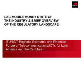 ITU/BDT Regional Economic and Financial Forum of Telecommunications/ICTs for Latin
