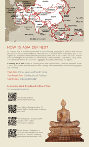 How is Asia defined?