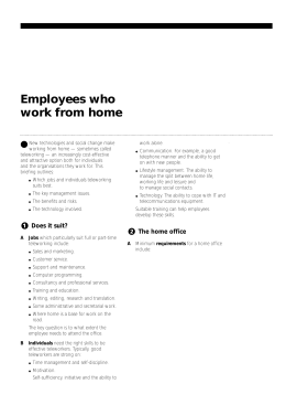 Employees who work from home
