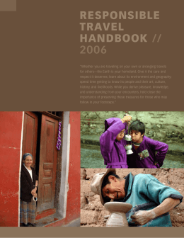 RESPONSIBLE TRAVEL HANDBOOK //