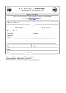 Registration form 03.12.2004 Council Working Group on WSIS (WG-WSIS)