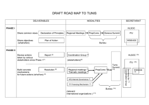DRAFT ROAD MAP TO TUNIS