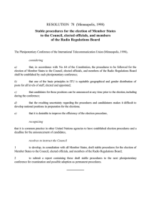 RESOLUTION  78  (Minneapolis, 1998) of the Radio Regulations Board