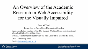 An Overview of the Academic Research in Web Accessibility