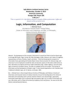 Info-Metrics Institute Seminar Series Wednesday, October 9, 2013 American University