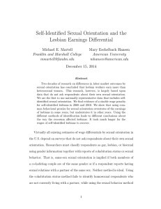 Self-Identified Sexual Orientation and the Lesbian Earnings Differential