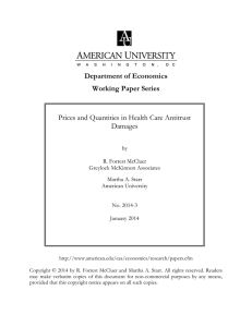 Department of Economics Working Paper Series