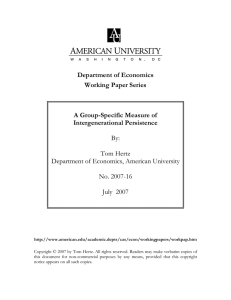 Department of Economics Working Paper Series  A Group-Specific Measure of