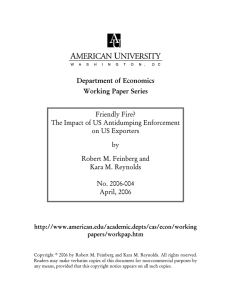 Department of Economics Working Paper Series Friendly Fire?