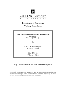 Department of Economics Working Paper Series  by