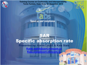 SAR Specific absorption rate  by: Karim Loukil & Kaïs Siala