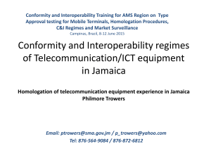 Conformity and Interoperability Training for AMS Region on  Type