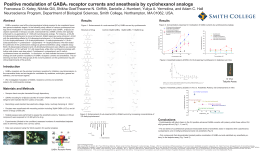 Positive modulation of GABA receptor currents and anesthesia by cyclohexanol analogs