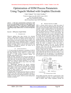 Optimization of EDM Process Parameters Using Taguchi Method with Graphite Electrode