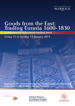 Goods from the East: Trading Eurasia 1600-1830