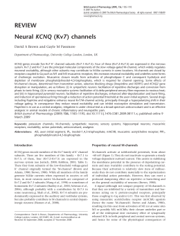 REVIEW KCNQ David A Brown and Gayle M Passmore
