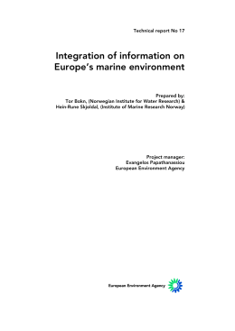 Integration of information on Europe's marine environment