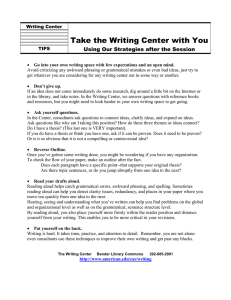 Take the Writing Center with You