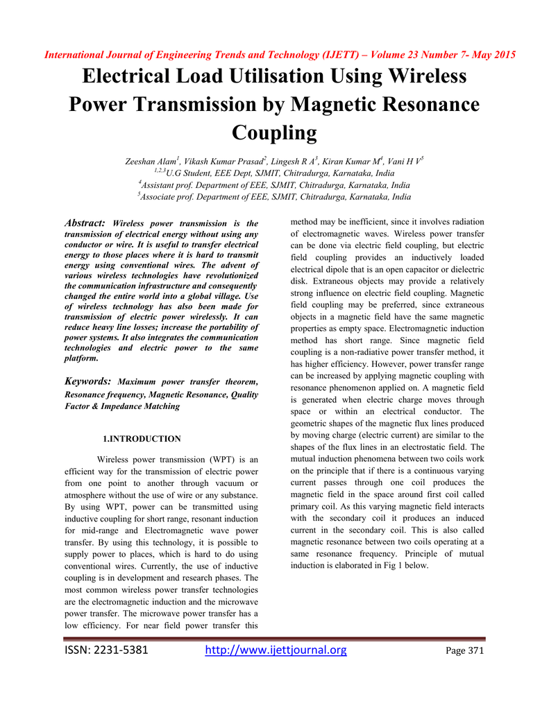 Electrical Load Utilisation Using Wireless Power Transmission By Capacitive Coupling 012913472 1 69d663b6b061913606658fe08d75e4ec