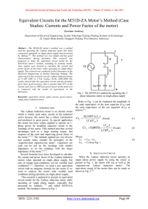 "Equivalent Circuits for the M31D-ZA Motor""s Method (Case"