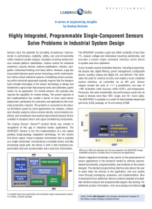 Highly Integrated, Programmable Single-Component Sensors Solve Problems in Industrial System Design