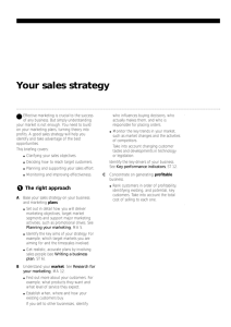 Your sales strategy