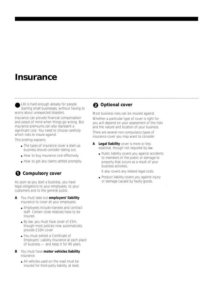 Insurance Optional Cover