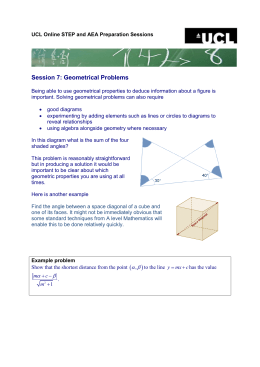 Session 7: Geometrical Problems