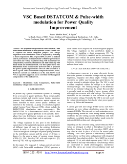 VSC Based DSTATCOM & Pulse-width modulation for Power Quality Improvement