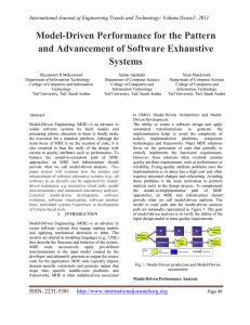Model-Driven Performance for the Pattern and Advancement of Software Exhaustive Systems