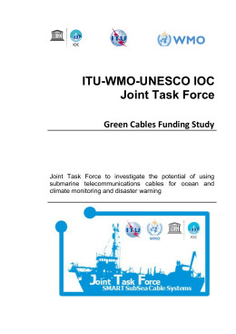 ITU-WMO-UNESCO IOC Joint Task Force Green Cables Funding Study
