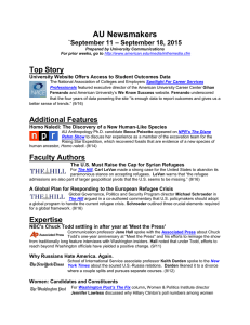 AU Newsmakers Top Story – September 18, 2015 `September 11