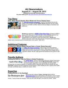 AU Newsmakers Top Story – August 28, 2015 August 21