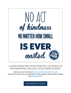 IS EVER NO ACT of kindness wasted.