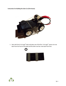 Instructions for Building the Solar Car (30 minutes)