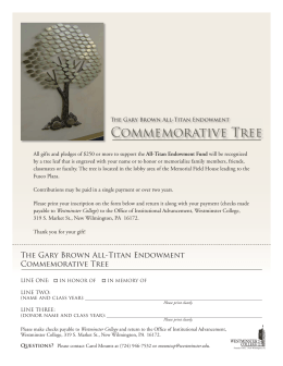 Commemorative Tree